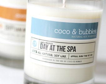 No. 139: DAY at the SPA  // Natural Soy Candle // 13 oz // Highly Scented