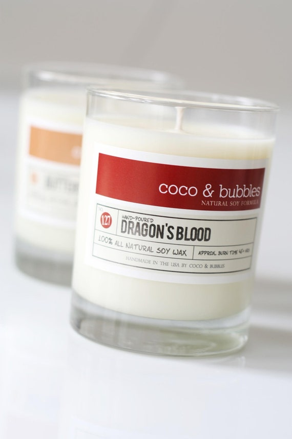 No. 127: DRAGON'S BLOOD  // Natural Soy Candle // 13 oz // Highly Scented