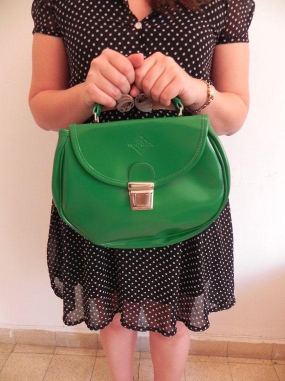 Mini Round Green School Bag