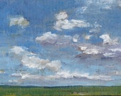 Kite-Calling Sky, Newport - Original Oil Painting