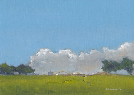 Hill Farm - Original Oil Painting