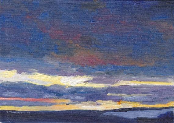 Winter Dawn -- Original Oil Painting