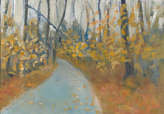 Rain Beeches - Original Oil Painting