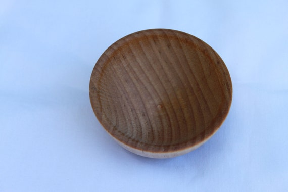Pecan Stained Tiny Spinning Bowl