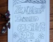 Zentangle-Inspired PDF Coloring Book
