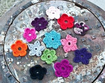 Crochet Interchangeable Flowers - set of 3 Flowers