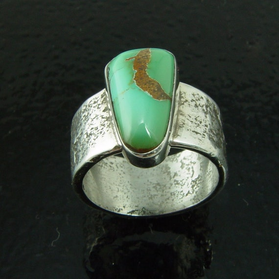 Verde Mine/Cerrillos Hills Turquoise Ring - Size 6 5/8  Direct from the MIner/Artisan