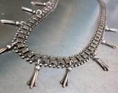 Victorian Era Book Chain Squash Necklace