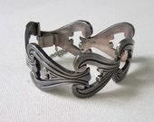 Mexican Silver Bracelet Heavy 1940s Vintage SALE