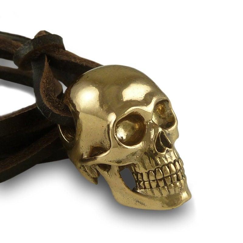 human skull necklace skull jewelry bronze human skull pendant