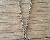 Silver English Fob on Silver Chain