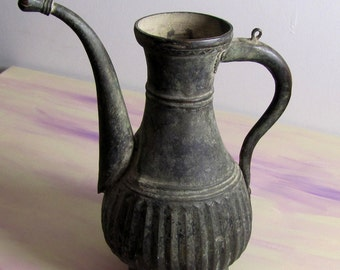 BRONZE ANCIENT VESSEL :  Central Asia Arhaeological Finding Water, Wine Pitcher