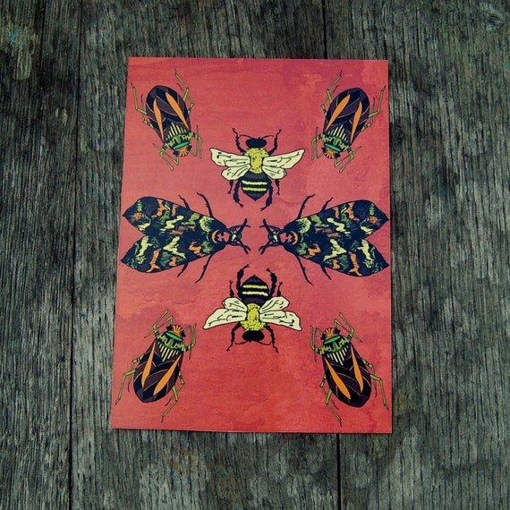 Bug Collage Print