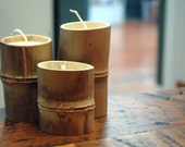 Natural Bamboo and Soy Candle Set