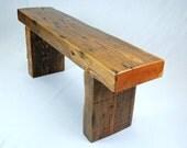 Reclaimed Fir Timber Frame Bench
