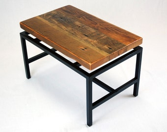 SALE -- Blakeley Floating Top Industrial Coffee Table in Reclaimed Fir