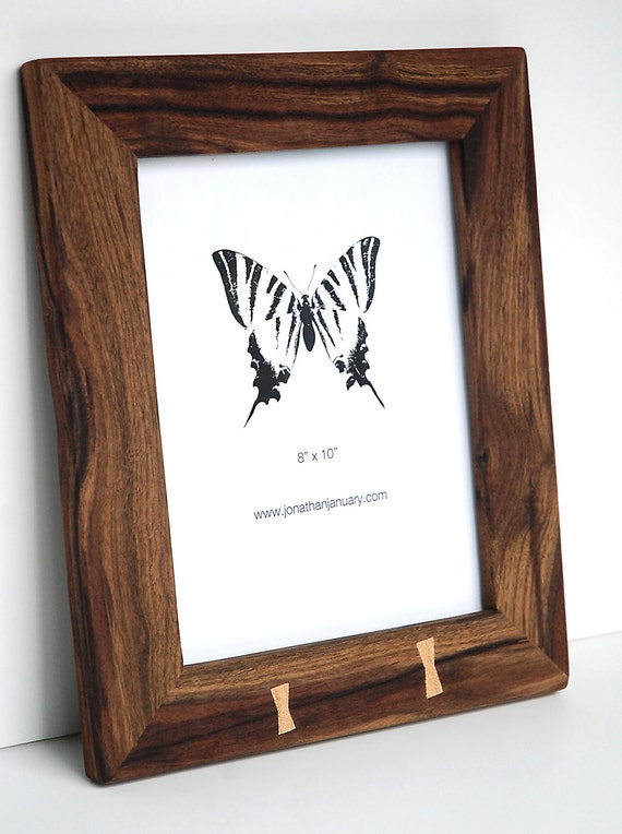 Traditional Black Walnut Picture Frame with Butterfly Joints