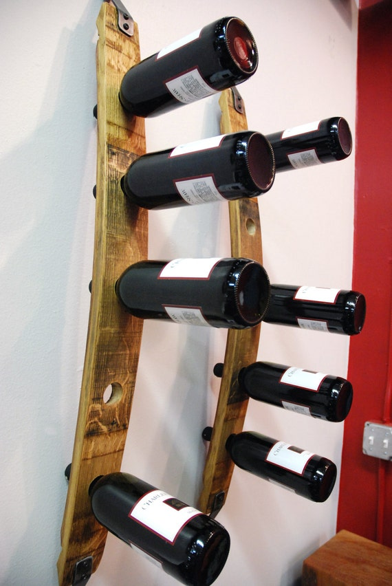 Reclaimed Barrel Stave Wine Tower