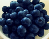 Fresh Blueberries - Fine Art Photography, Food, Kitchen Art, Home Decor, Wall Art, Country - 5x5