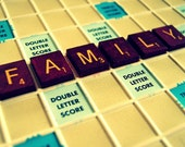 30% OFF SALE on In Stock Prints - Family II - Scrabble Word - Fine Art Photography - In Stock - 5x7