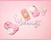 Royal Hime Gyaru Princess Nails