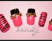 Neon Pink Zebra Print