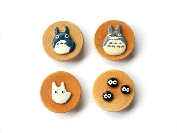 Round Wooden Magnet Set - My Neighbor Totoro