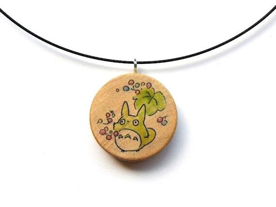 Round Wooden Charm - My Neighbor Totoro - coloured Series