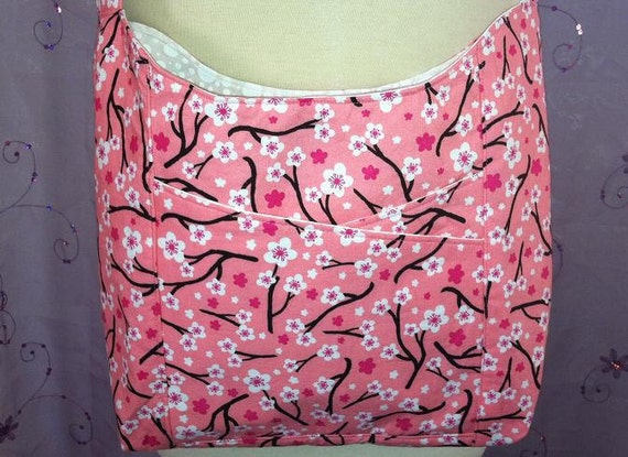 ON SALE  Cross-Body Sling Bag - Pink and White Floral