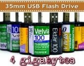 4GB 35mm film USB flash drive