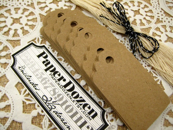 1 Dollar Sale- Brown Kraft Collection (No Strings Attached) Tags-  2 1/2 Dozen