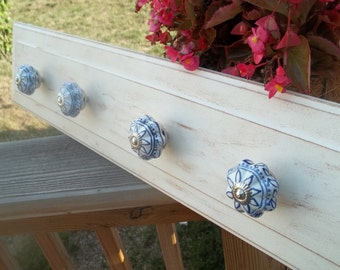Repurposed Drawer Front / Wall Board With Ceramic Knobs By SimplyUpStanding