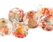 Handmade Lampwork Glass Beads Flameworked Exotic No.4