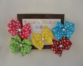 Gift Set Of Polka Dot Bows