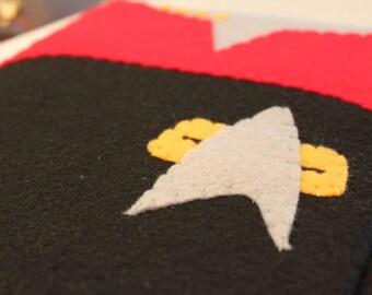 Star Trek Voyager Felt  ipad Case (Red) Captain Janeway