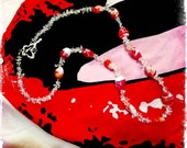 Salmon And Ice Necklace