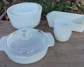Milk Glass Utility Set Instant Kitchen Classic Offering