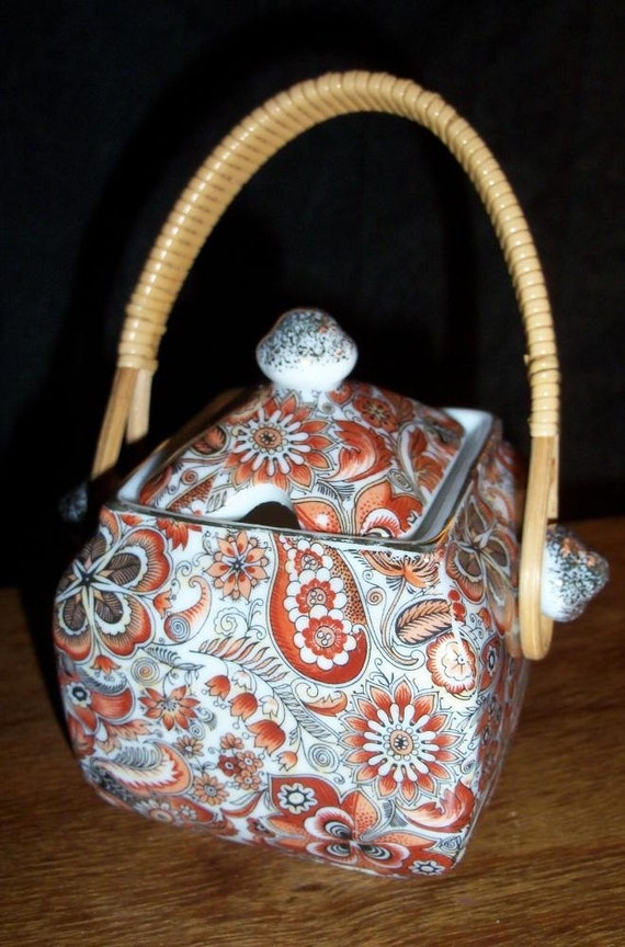 Royal Paisley Japanese Sugar Pot Bamboo Rich Stylings