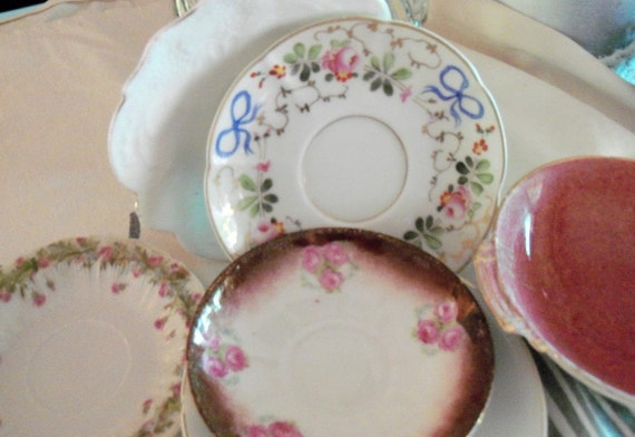 Antique Plates Instant Collection Worthy & Pink