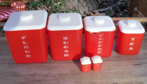Red Canister Set Midcentury Find Update
