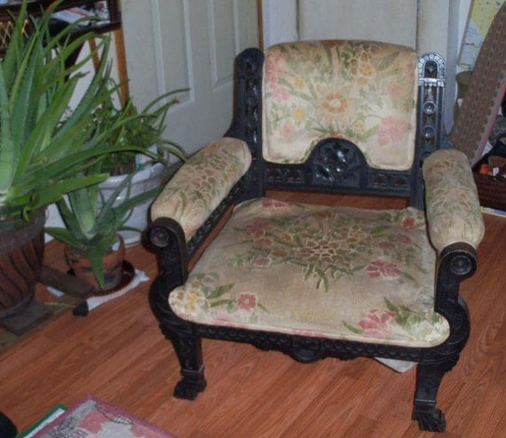 Reserved Japanese Throne Chair Victorian Asian Armchair Extensive Cut Outs Carvings Anglo Japanese Aesthetic Movement Piece