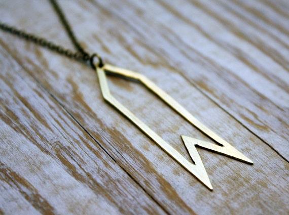 Clearance Sale - 50% off - Brass Arrow Necklace