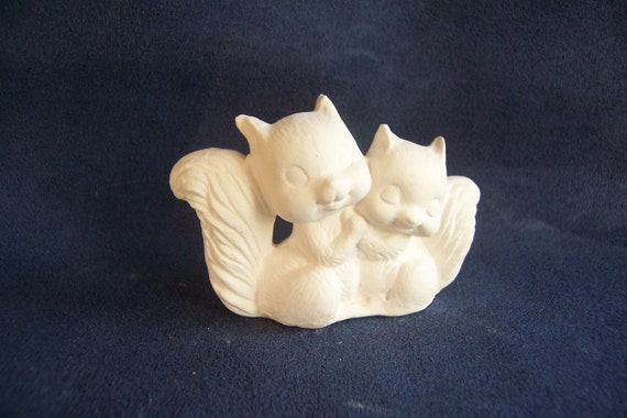 Ceramic Bisque Squirrels - Ready For You To Paint