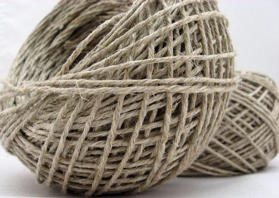 Bulk Hemp Yarn, Twine, Fair Trade Vegan Yarn, Wholesale Bag, Choose Fingering or DK, Natural Hemp