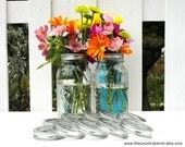 Mason Jar Flower Frog LIDS - Set of 12 - Upcycled DIY Flower Arrangers or Potpourri Lids - Wedding Bouquet or Centerpiece, Woodland, Shabby