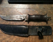 Vintage, 1940's World War 2 E.G. Waterman Knife With Sheath, Original Used Condition, Collectible, Gift for Him