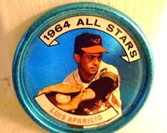 Vintage 1964 Luis Aparicio Collectible Coin, Hall of Fame Shortstop, Baltimore Orioles, Go Go White Sox, Gift for Him, Christmas