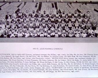 Vintage St. Louis Football Cardinals 1973 Team Photo, Ahmad Rashad, Jim Hart, Roger Wehrli, Mel Gray, Jackie Smith, Gift For Him, Christmas