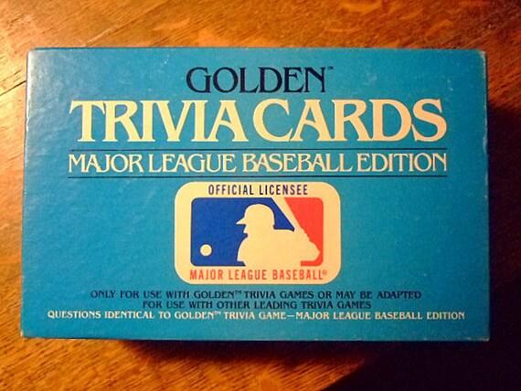 Vintage Golden Trivia Cards Major League Baseball Edition, Gift For Him, Stocking Stuffer, CHRISTMAS