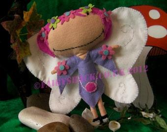 Skye Fairy (with pink hair)- a Fairy Shack Felt Fairy